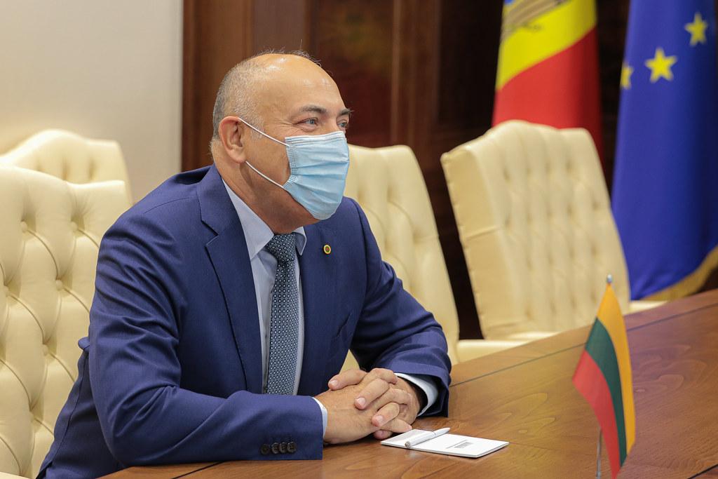 17.08.2021 Întrevederea Președintelui Parlamentului, Igor Grosu, cu  Ambasadorul Republicii Lituania, Kestutis Kudzmanas