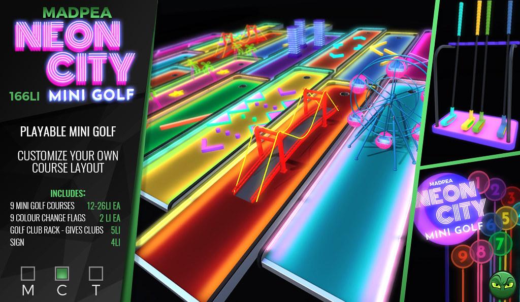 ⛳MadPea Neon City Mini Golf @ Man Cave *GIVEAWAY*⛳