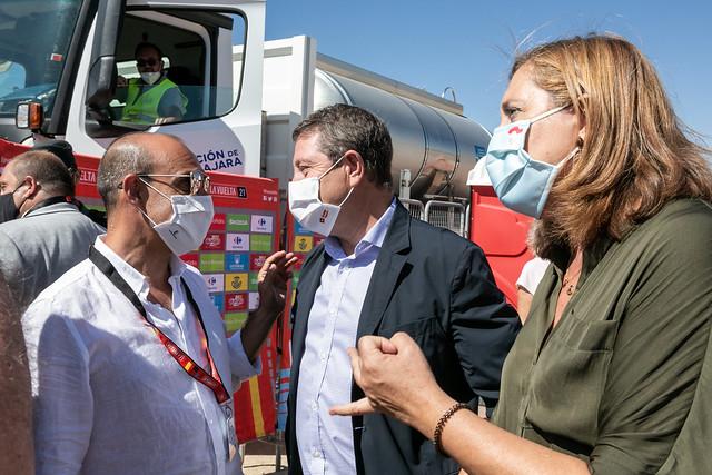 Llegada a meta de la 4ª etapa de la Vuelta Ciclista a España en Molina de Aragón