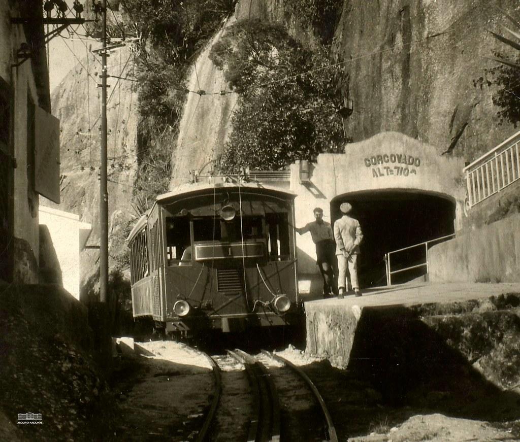 Trem do Corcovado, Rio de Janeiro (RJ), 1957