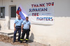 The threat of fires becomes all too real when flames are just raging metres away from a village.   Residents in the village of Avgaria on Evia island express their gratitude to a Slovak firefighting unit team working nearby.  © European Union, 2021 (photographer: Sotiris Dimitropoulos)