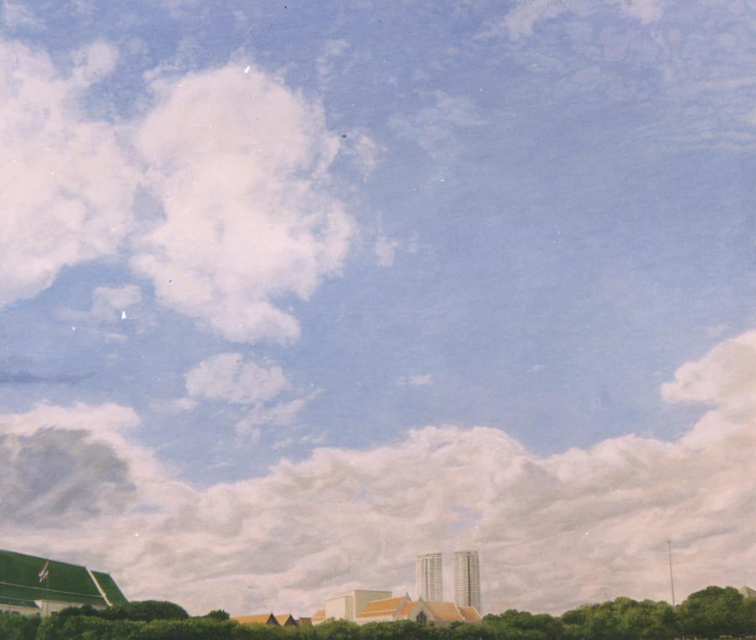 Blue Sky (2003), สีน้ำมันบนผ้าใบ