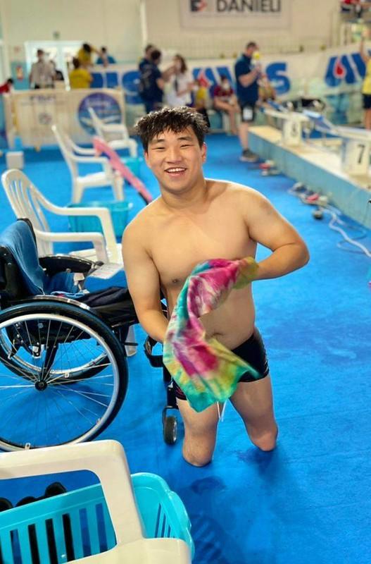 東京帕運游泳選手陳亮達。(圖/中華民國殘障體育運動總會提供)