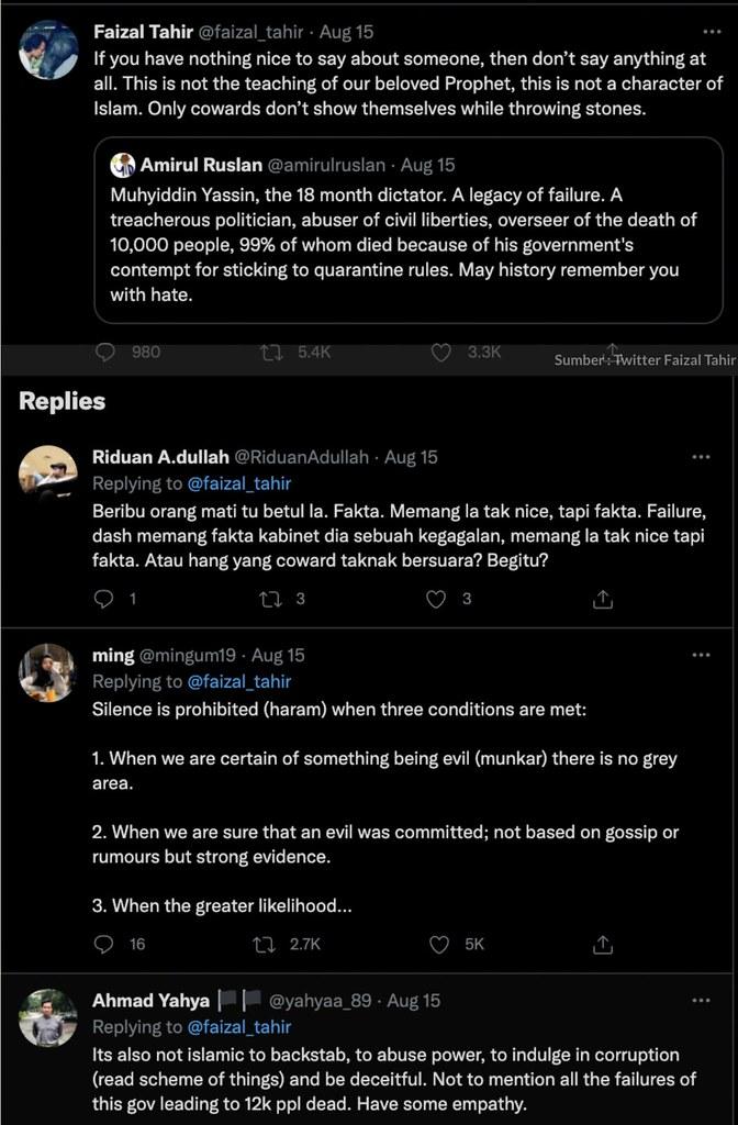 Faizal Tahir Pertahan Pm, Nasihat Netizen Supaya Jaga Mulut, Tapi Ini Reaksi Netizen