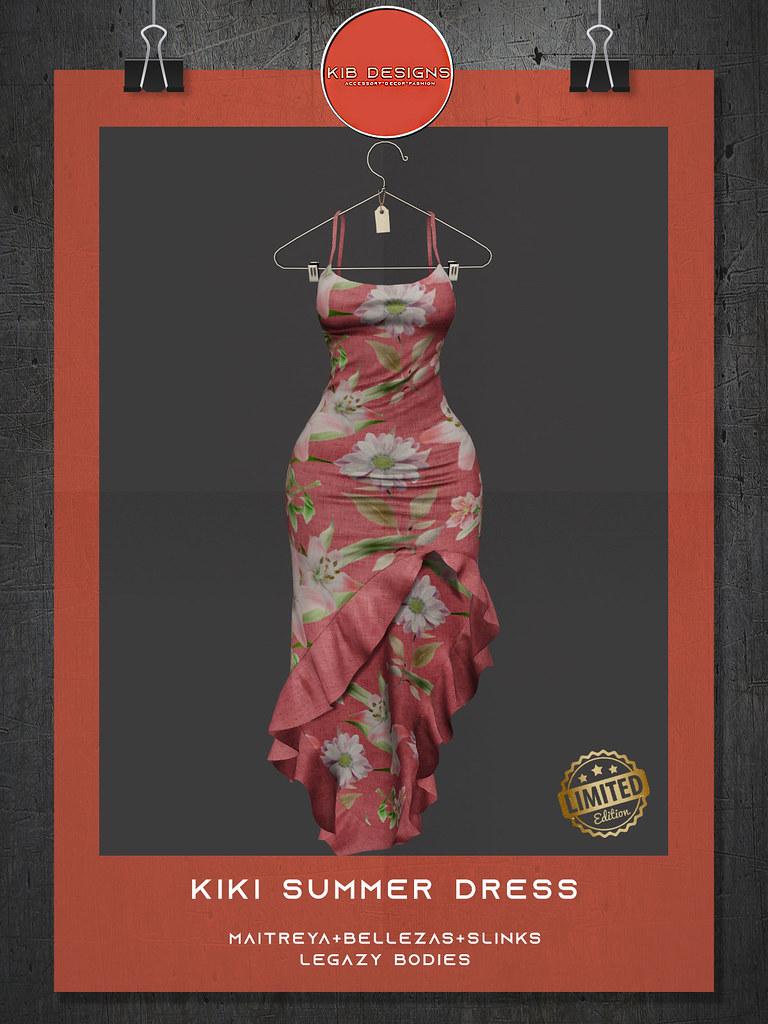 KiB Designs – Kiki Summer Dress Limited Edition @Beauty Event 21st August