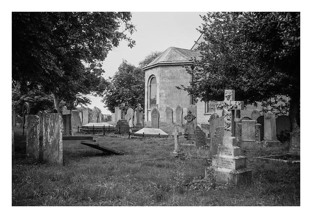 Behind the church