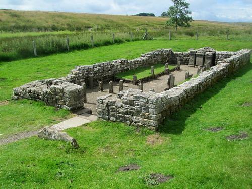 Mithraic Temple, Carrawburgh, Northumberland, Roman ruin