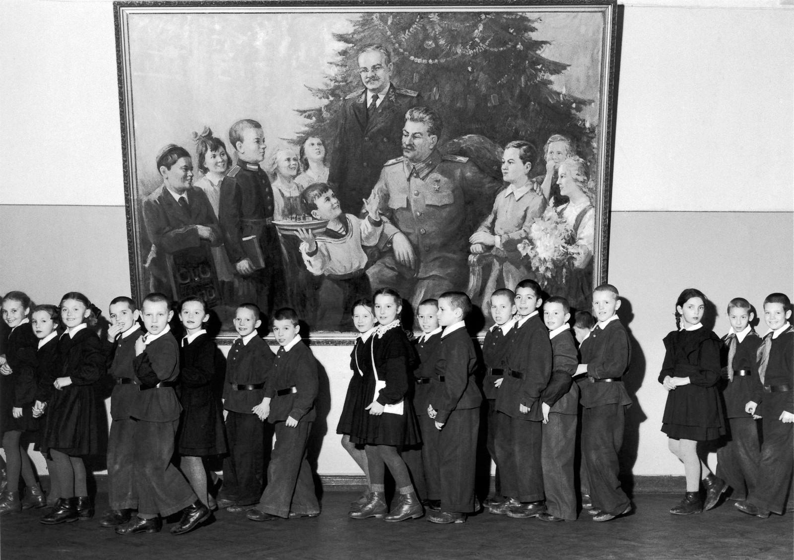 1955. Москва. Школьники