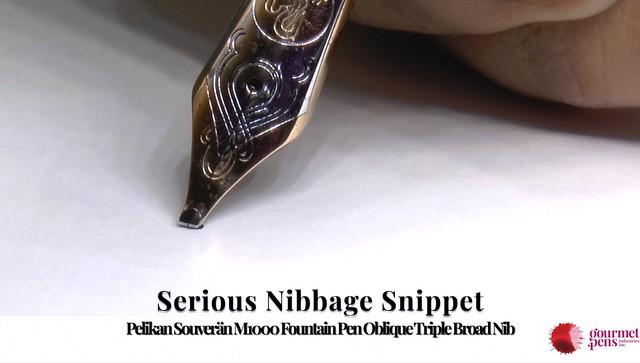 Serious Nibbage Snippet Pelikan Souverän M1000 Oblique Triple Broad Nib Fountain Pen