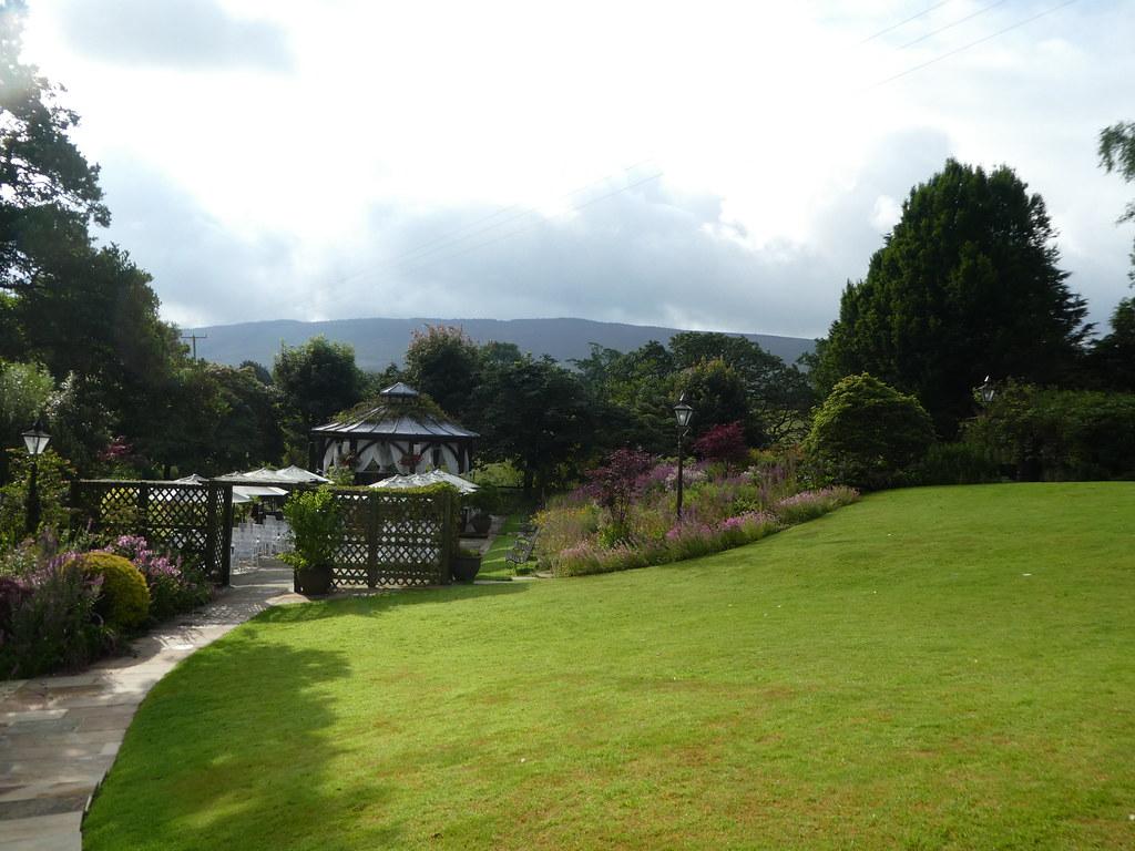 The gardens of Gibbon Bridge Hotel, Chipping