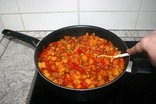 39 - Stir in peas / Erbsen verrühren