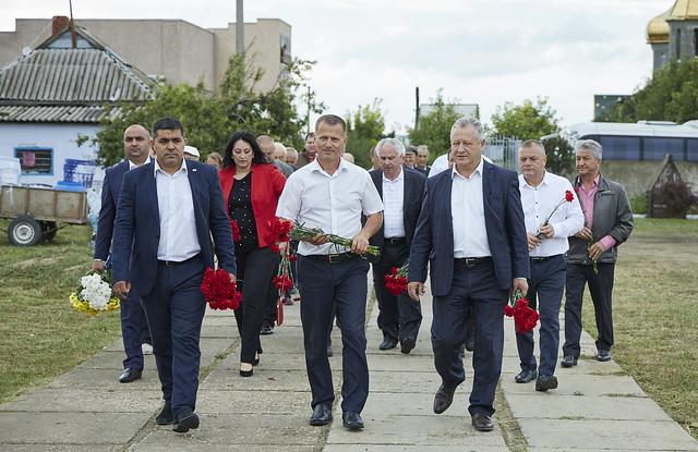 19 Августа возложение цветов к мемориалу С.Топала