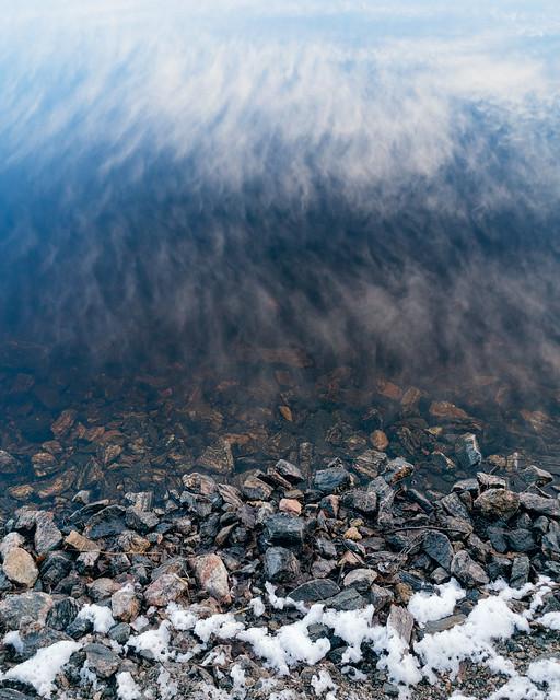 Cloud stone reflection