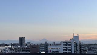 はやぶさの車窓(富士山)