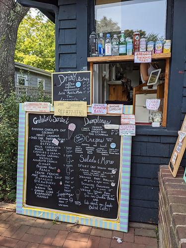 menu @ Opties and Dinghies