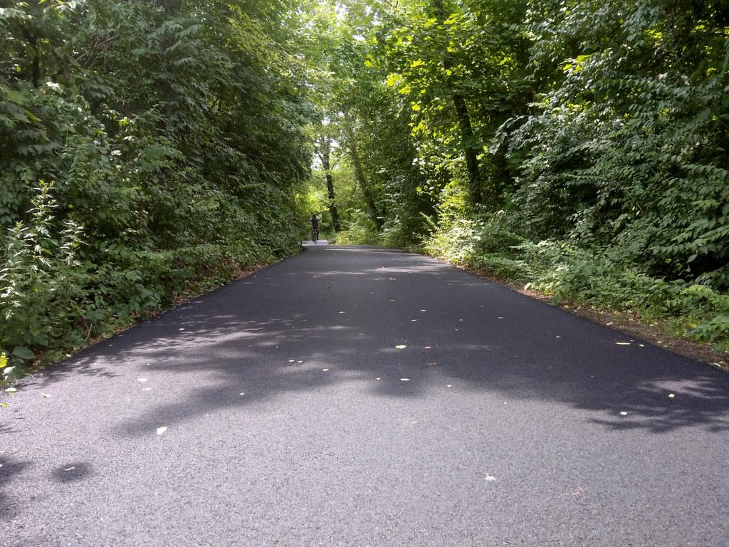 Freshly-resurfaced Southside Trail