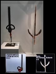 Expo Carambolages. Grand Palais. Mars-Juillet 2016. Bertrand Lavier. Black & Decker 1998. Épée. Îles Kiribati. Océanie épée