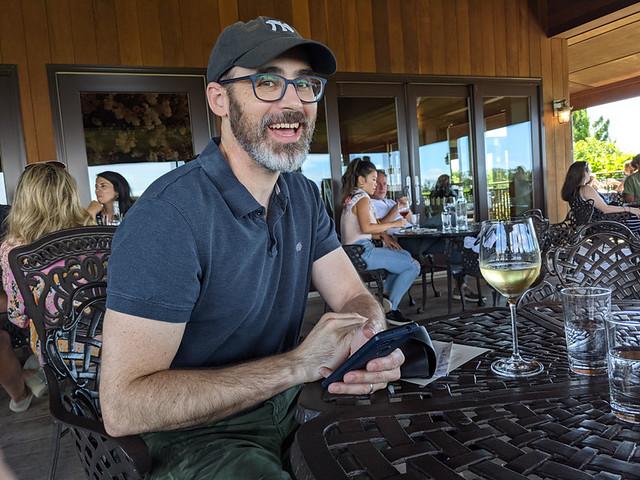 member wine tasting @ Macari