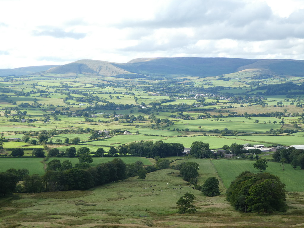 Views across the Forest of Bowland from Jeffrey Hill