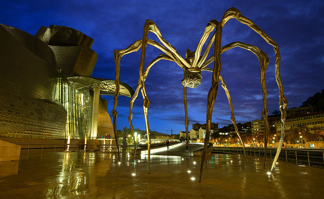 The spider Maman at the Guggenheim Museum in Bilbao