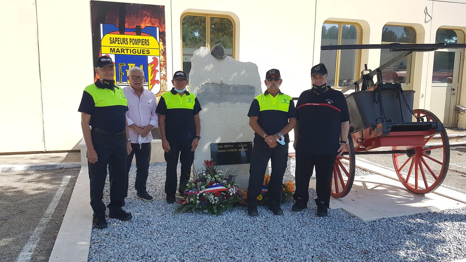 Commémorations à Trets et Martigues : les Pompiers13 n'oublient pas les leurs