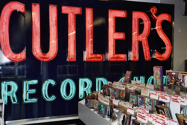 Hi, fellow Connecticutites. Remember Cutler's Records at 33 Broadway? They had the best vinyl - not just rock albums, but also a serious jazz collection. In back, they sold hundreds of used LPs and CDs for a pittance. New Haven CT. Sept 1983