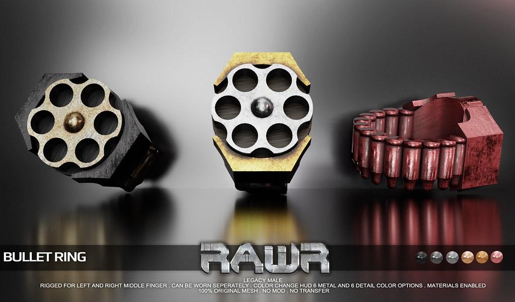 RAWR Bullet Ring