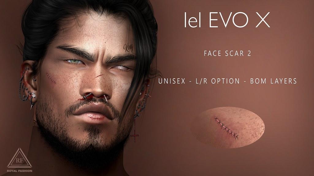 [ Royal Fashion ] Face Scar 2