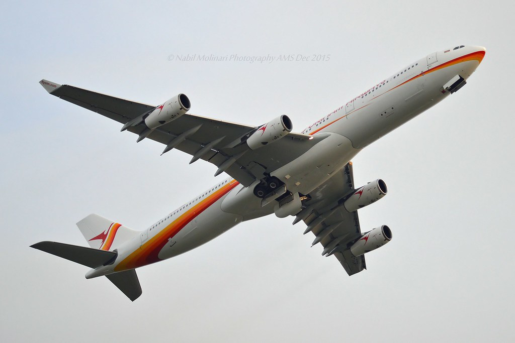 Surinam Airways PZ-TCR Airbus A340-313 cn/242 wfu 27 Oct 2019 std at CQM 19 Dec 2019 @ Kaagbaan EHAM / AMS 26-12-2015