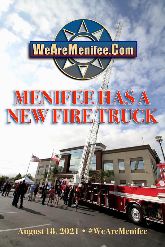 Menifee's New Fire Ladder Truck