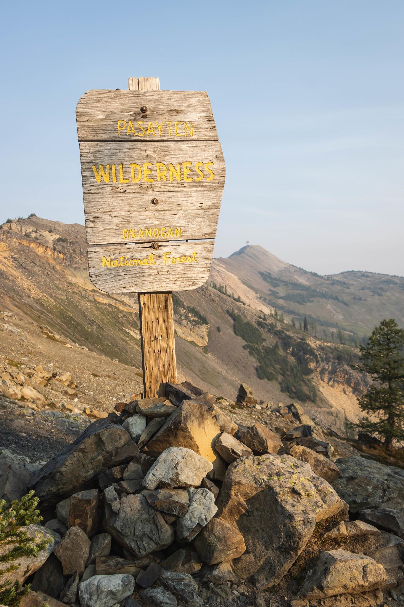 Entering Pasayten Wilderness
