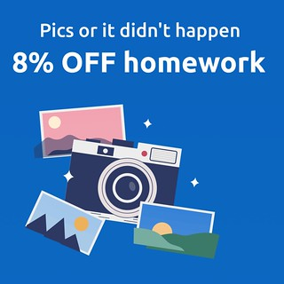 8% off papers on World Photography Day!