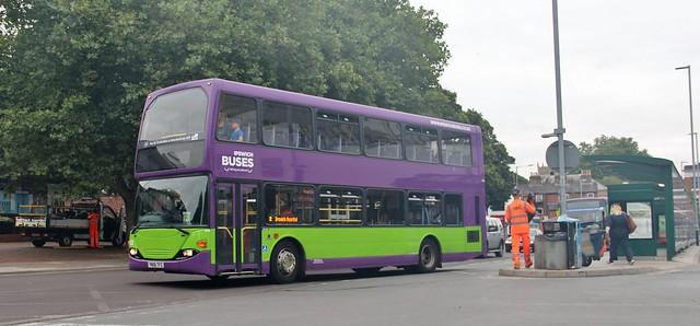 YN06 TFZ, Ipswich Buses Scania 63, Crown Street, 20th. August 2021.