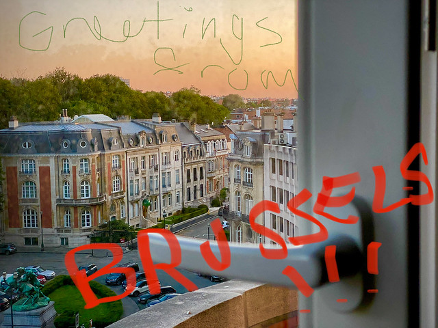 view from our sweet pad in Brussels