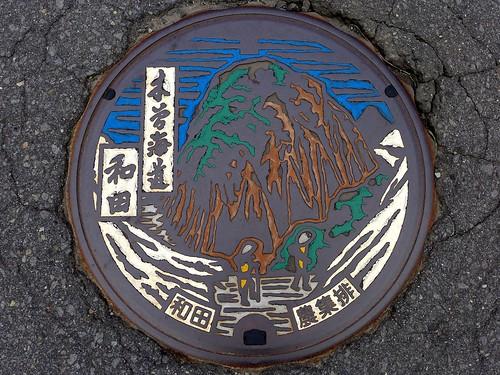 Wada Nagano, manhole cover (長野県和田村のマンホール)