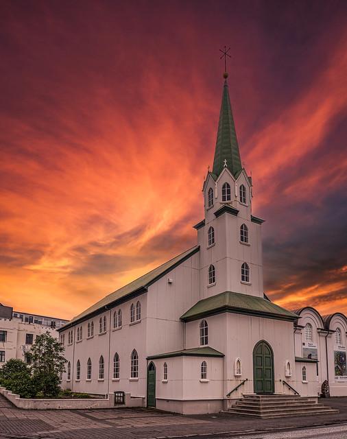 Free church of Reykjavik (Iceland)
