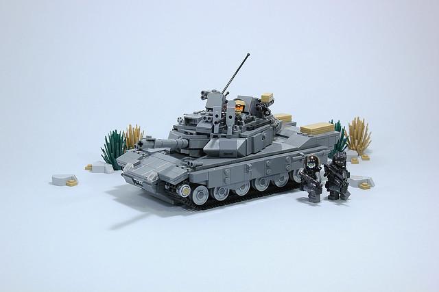 Eurasian tank in movement