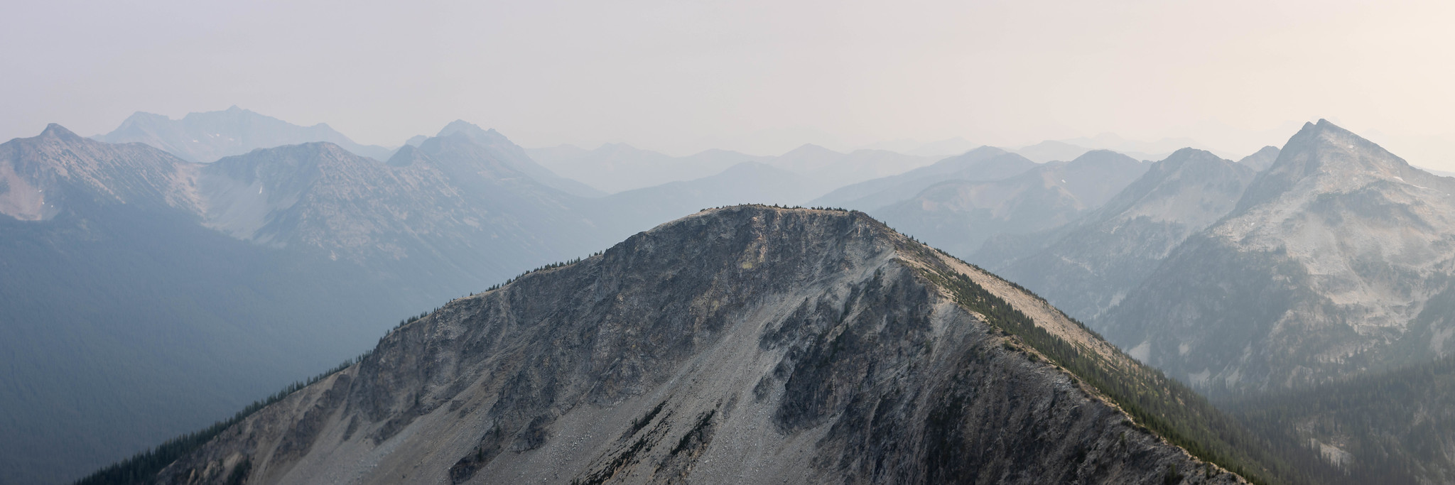 Southern panoramic view over Peak 7632