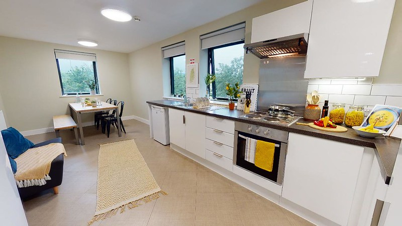 A typical kitchen in a platinum or silver en-suite room