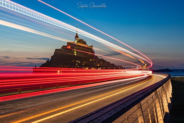Le Mont-Saint-Michel à l'heure bleue