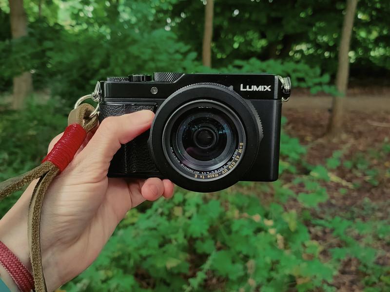 Holding the Lumix LX100ii