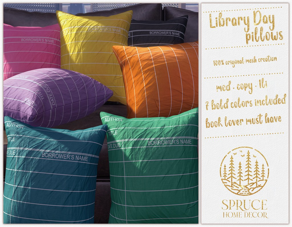 .spruce. library day pillows {pastels}