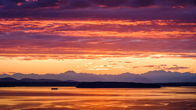 Red Sunset, West Seattle