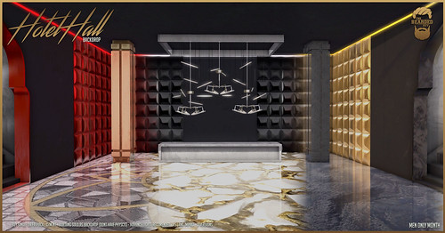 Hotel Hall Backdrops @ Men Only Month
