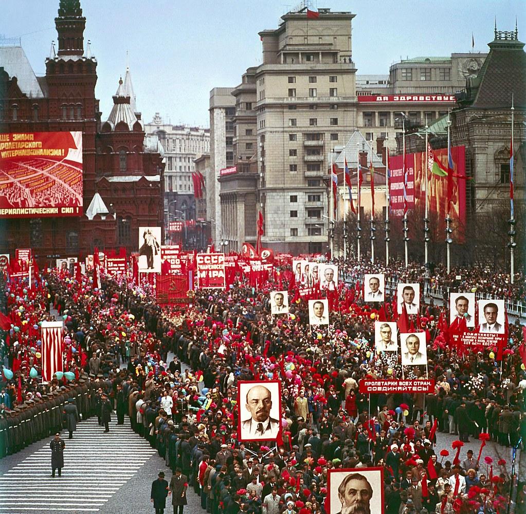 1970-е. Первомайская демонстрация в Москве на Красной площади