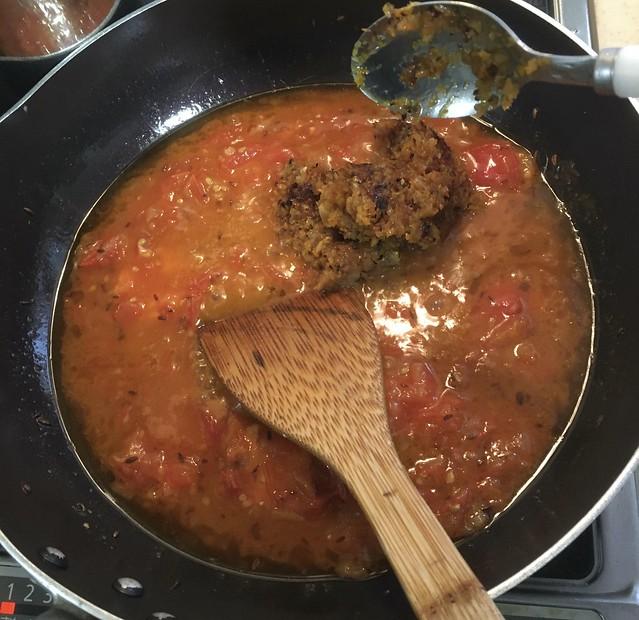 イタリア風シーフードと夏野菜のカレー!w