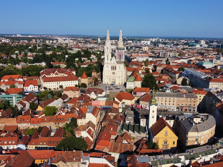 Zagreb by drone
