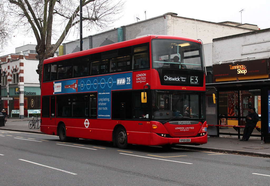 Route E3, London United, SP141, YP59ODX