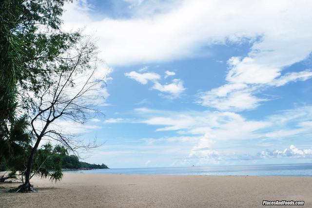naithorn beach phuket with trees