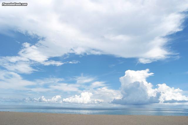 naithorn beach phuket blue cloudy sky